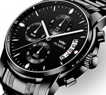 NIBOSI Watch Men Fashion Sport Quartz Clock Mens Watches Top Brand Luxury Business Waterproof Gold Black Watch Relogio Masculino 3321