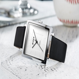 BlDEN fashion womens watches ladies square woman watch elegant shiny girl leather women quartz watch charm clock Reloj Mujer 3336