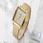 BlDEN fashion womens watches ladies square woman watch elegant shiny girl leather women quartz watch charm clock Reloj Mujer 3322