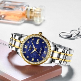 NIBOSI Watch Relogio Feminino Women Watches Quartz Mens Watches Top Brand Luxury Lover Watches Gold Quartz Wristwatch-3200