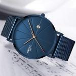 NIBOSI Man Watch Blue Watches Men Quartz Sport Full Steel Clock Military Watches Men Waterproof Ultra Thin Men's Hod inky 3325