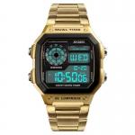 SKMEI Men Watches Business Waterproof Digital Wristwatch Clock Man Watch Stainless Steel Relogio Masculino Erkek Kol Saati 3356