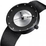 Men's Sport Watch Quartz Stainless Steel Black / Blue Water Resistant / Waterproof Hollow Engraving Analog Casual Fashion 3314