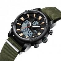 BIDEN Sports Watches Men Fashion Brand Nylon Strap - ARMY GREEN -3112