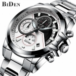 BIDEN brand mens business wristwatches stainless steel quartz man watches -3088