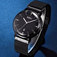 BIDEN luxury brand fashion casual watch quartz watch Simple charm men mesh band Relogio Male Date Watch-3105