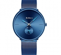 BIDEN Men Fashion Steel Quartz Creative Watches - Lapis Blue-3160