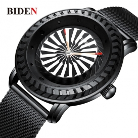 BIDEN Simplicity Men Analog Stainless Steel Watch Ba Top Clock Quartz Watch-3108