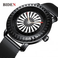 BIDEN Simplicity Men Analog Stainless Steel Watch Ba Top Clock Quartz Watch-3108