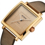 BIDEN Watches Fashion Square Dial Clock Retro Leather Band Quartz Watch Ladies Top Brand Luxury Wristwatch Montre Femme 3342