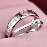 Birthday gift for girlfriend, honesty,couple ring, heart shape 5011