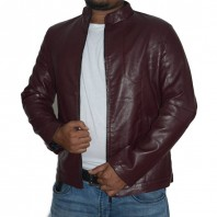 Artificial Leather Jacket -3555