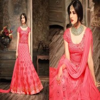 Unstitched Indian Georgette Gown For Women-1907