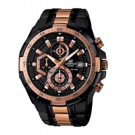 Casio Edifice Two Tone Black Rose Gold Chronograph EFR 539 Watch-3285