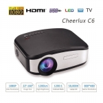 CHEERLUX C6 Mini LED 1200 Lumens Home Theater multimedia Projector-2128