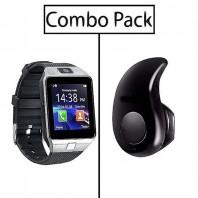 Combo of DZ09 Smart Watch and S530 Mini Bluetooth Earphone-3045