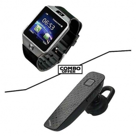 Combo of G6 Smart Watch Single SIM and T7 Bluetooth Headset-3046