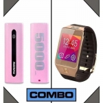 Combo of Remax 5000mAh Power Bank and G2 Smart Watch-3048