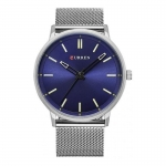 CURREN Fashion Men Quartz Watch - BLUE -3154