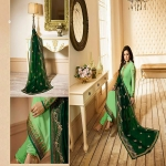 DESIGNER SEMI STITCHED CHURIDAR SUIT WITH EMBROIDERY-4646