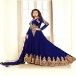 Dia Mirza Navy Blue Anarkali Suit-4652