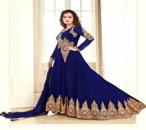 Dia Mirza Navy Blue Anarkali Suit-4652