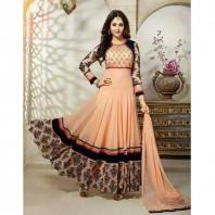Cream Indian Long three Pcs For Women-dr101