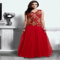 Red Party Wear Dresses for Teenagers-dr110