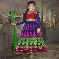 Party Wear Anarkali Georgette Suit-dr121