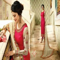 WEDDING COLLECTION BEAUTIFUL STYLISH FANCY COLORFUL PARTY WEAR & OCCASIONAL WEAR GEORGETTE SILK EMBROIDERED DRESSES-dr122