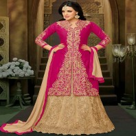 Prepossessing Long Choli Lehenga For Mehndi-dr124