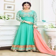 Ayesha takia Eid Special sea green Anarkali Suit-dr127