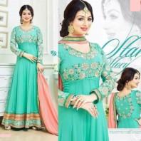 Ayesha takia Eid Special sea green Anarkali Suit-dr127