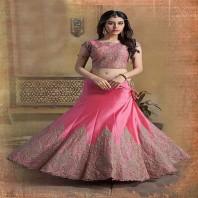 Pink Color Art Silk Lehenga Choli-dr131