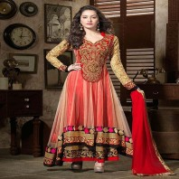 Embroidered salwar kameez-dr136