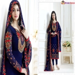 Ayesha Blue Takia Straight Cut Salwar Suits 4656