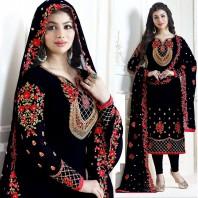 Ayesha Takia Deep Blue Straight Cut Salwar Suits-dr91