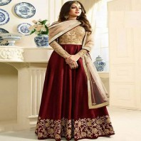 RED Bollywood Salwar Kameez Indian Designer Ethnic Party Wear Punjabi Suit-dr94