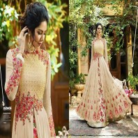 Free Size Heavy Embroidery Work & Full Dimoand Avelabel Long Gown Type Dress-dr95