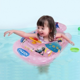 Frozen Inflatable Baby Kids Float Seat Boat Tube Ring Sun shade Swimming Pool-4078