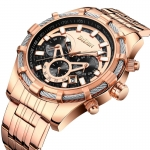 biden gold and SilverBlue Multifunction watch -3148