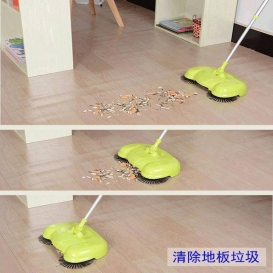Hand push type sweeping machine without household electric and dustpan combination Flor Mop 212
