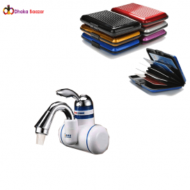 hot water shower tap with free card holder-8001