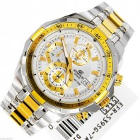 CASIO EDIFICE WHITE GOLD DIAL CHRONOIGRAPH MENS WATCH-3287