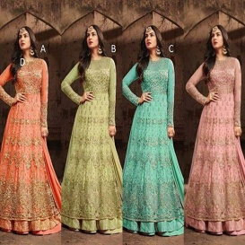 Indian anarkali salwar kameez suit designer pakistani Shalwar ethnic dress -1921