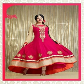 Indian Georgette Gown For Women-4649