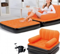 Inflatable Double Sofa Air Bed Couch Blow Up Mattress with Pump-702