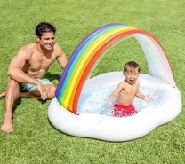 Intex Rainbow Cloud Inflatable Sunshade - Multicolour-4087