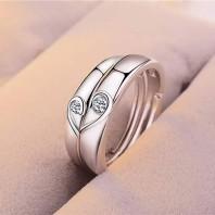 Korean Style Adjustable Size Couple Ring-jw5009