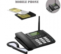 LATEST DOUBLE SIM DESKTOP PHONE WITH FM RADIO AND SUPPORT ALL GSM NETWORK SIM CARD-326